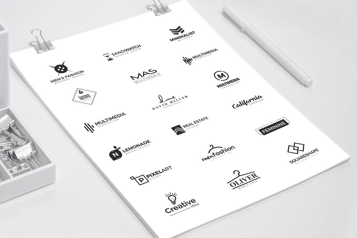 120 Minimal Branding Logo Pack - c minimal logo design