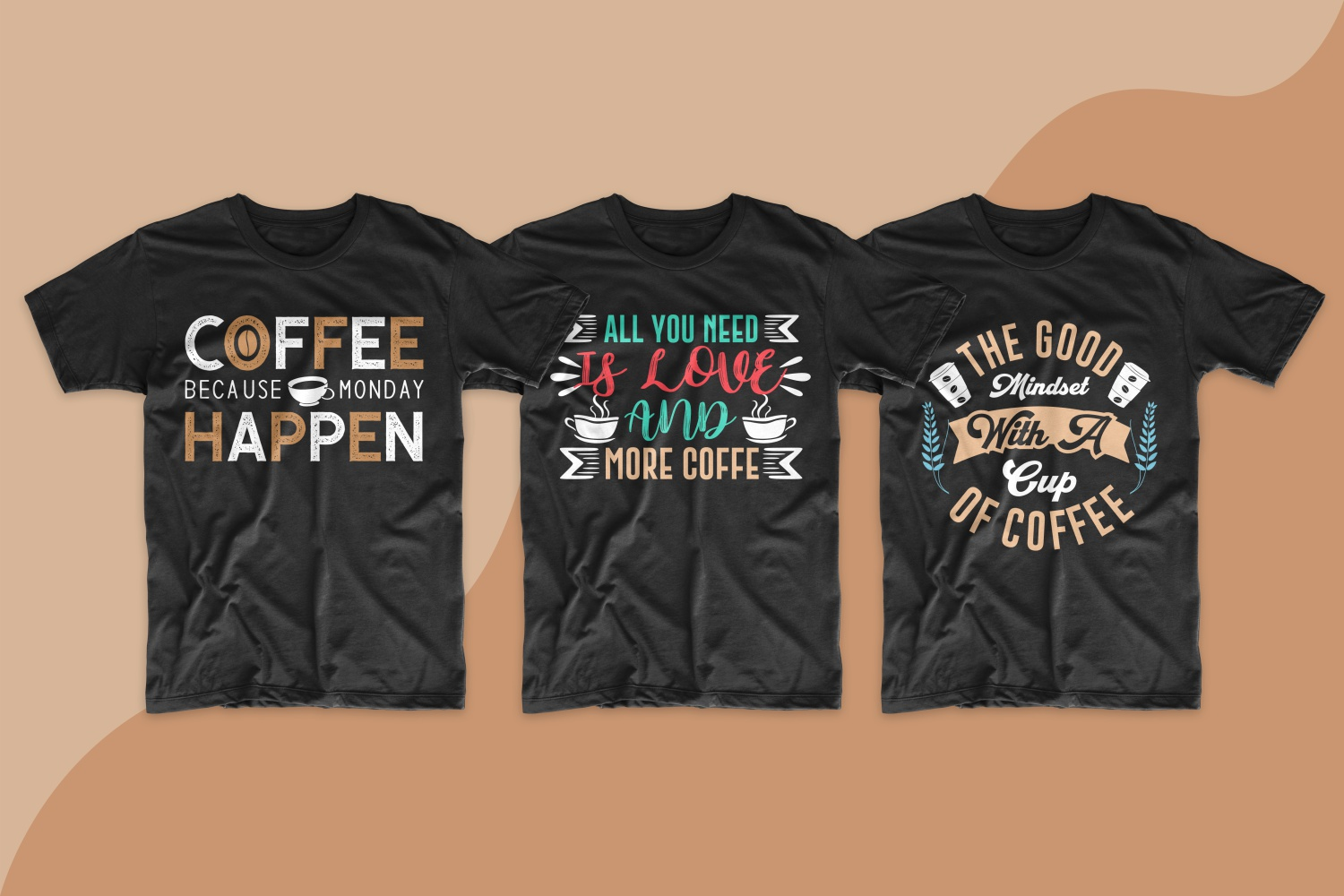 The design of these T-shirts is laconic, the inscriptions are minimalistic, but bright and with a beautiful font.