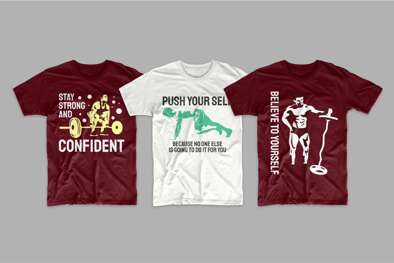 T-shirts about confidence in your body.