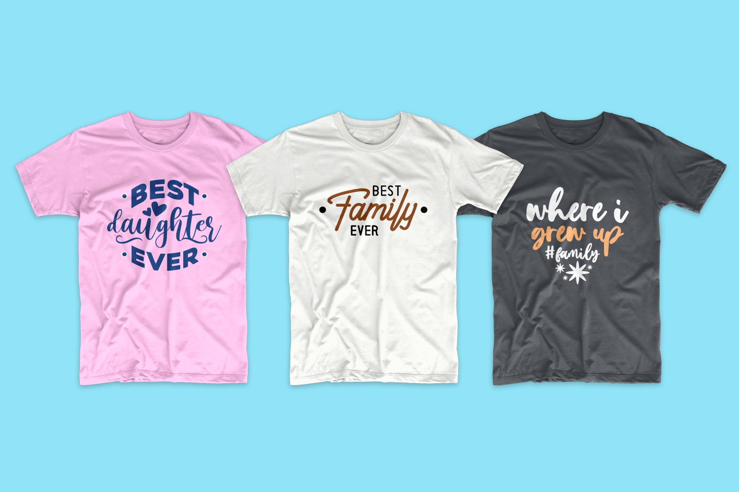 50 Family T-shirt Design Bundle - cf 15 1