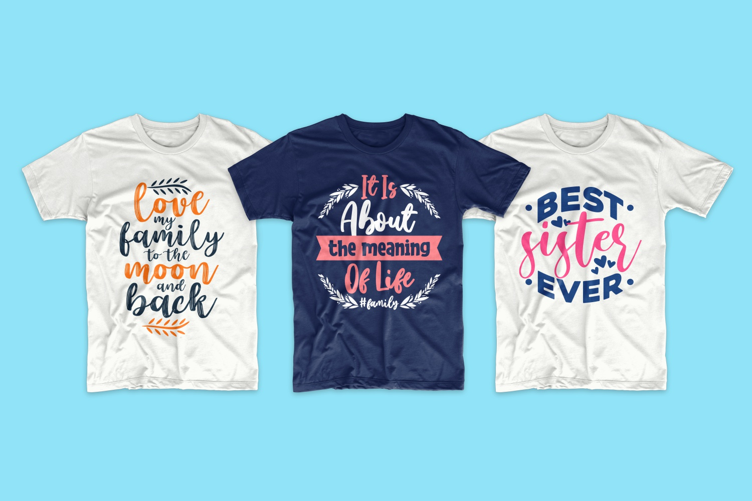 50 Family T-shirt Design Bundle - cf 2 1