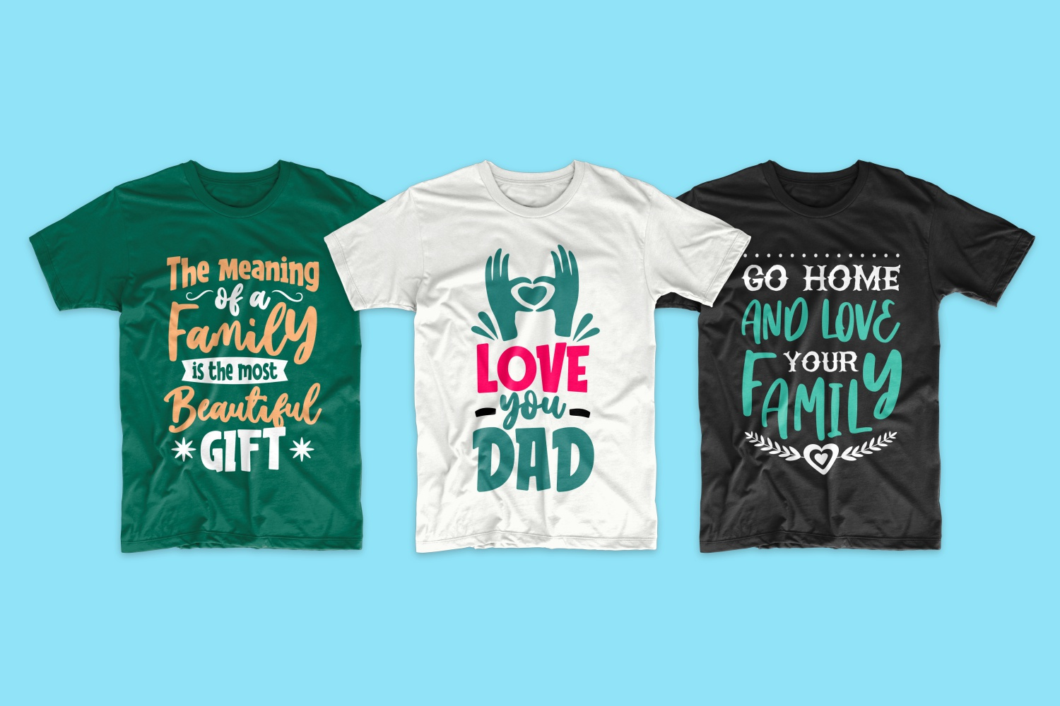 50 Family T-shirt Design Bundle - cf 5 1