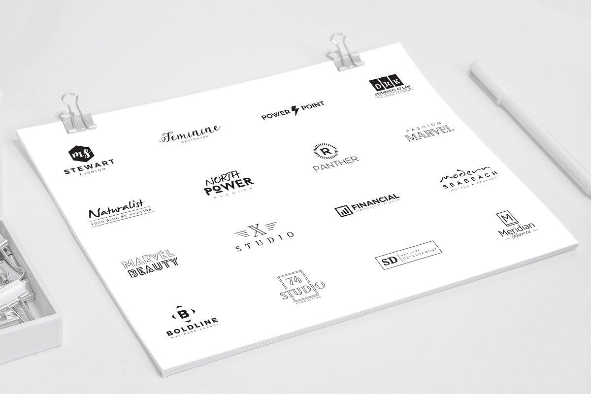 120 Minimal Branding Logo Pack - d premade minimal logo