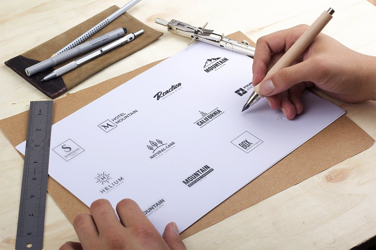 120 Minimal Branding Logo Pack - e minimal logo kit