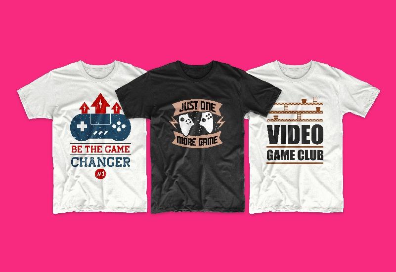 50 Gamer T-shirt Design Bundle - g 14