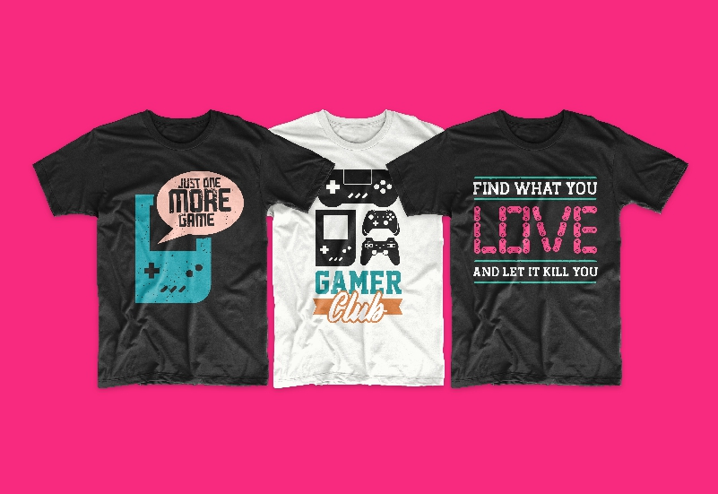 50 Gamer T-shirt Design Bundle - g 16