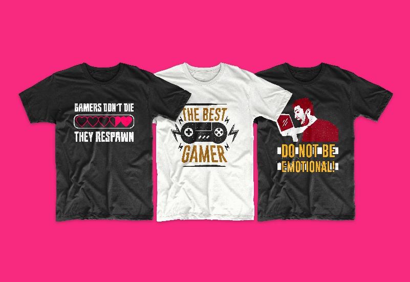 50 Gamer T-shirt Design Bundle - g 3