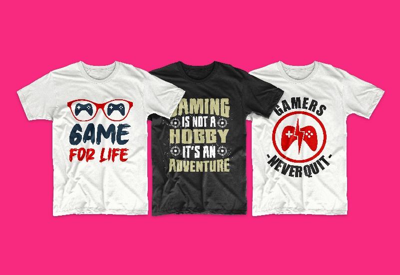 50 Gamer T-shirt Design Bundle - g 4