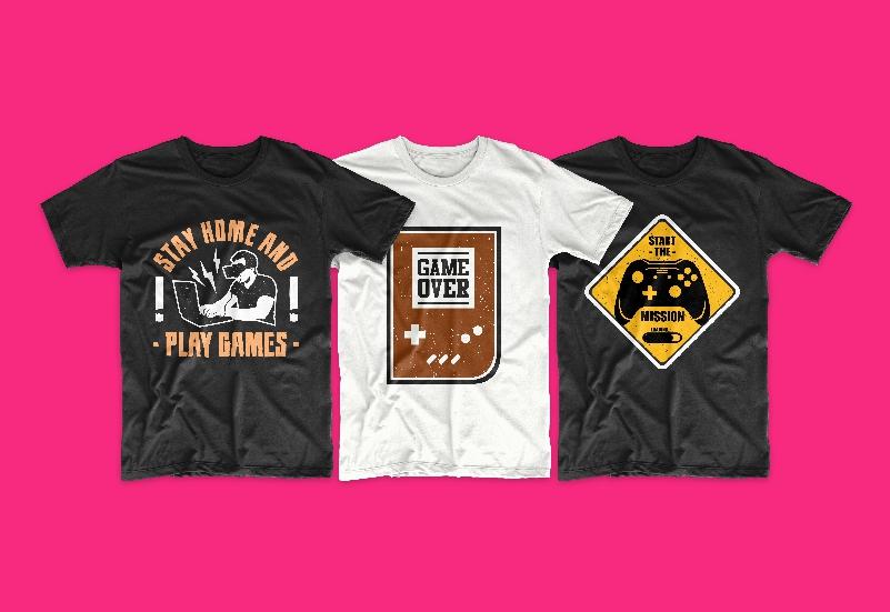 50 Gamer T-shirt Design Bundle - g 5