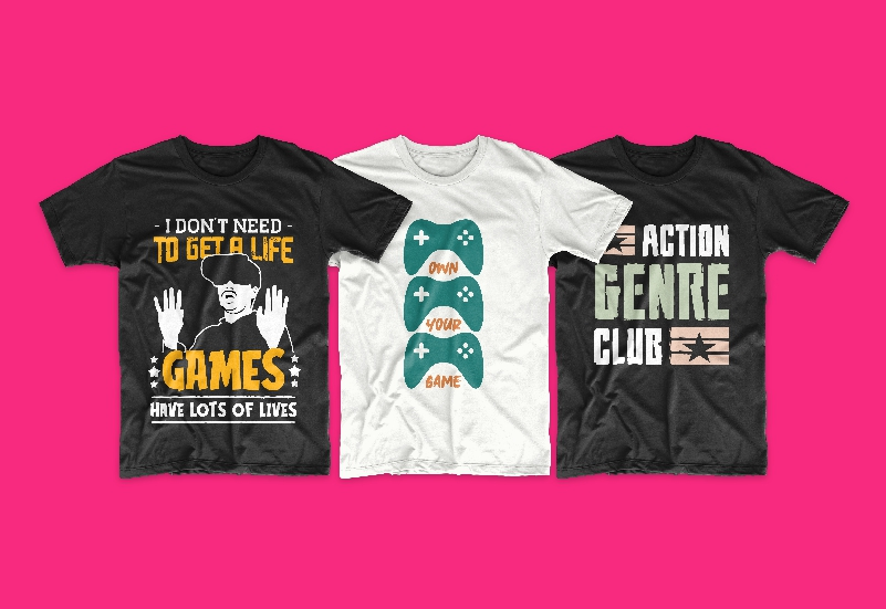 50 Gamer T-shirt Design Bundle - g 7