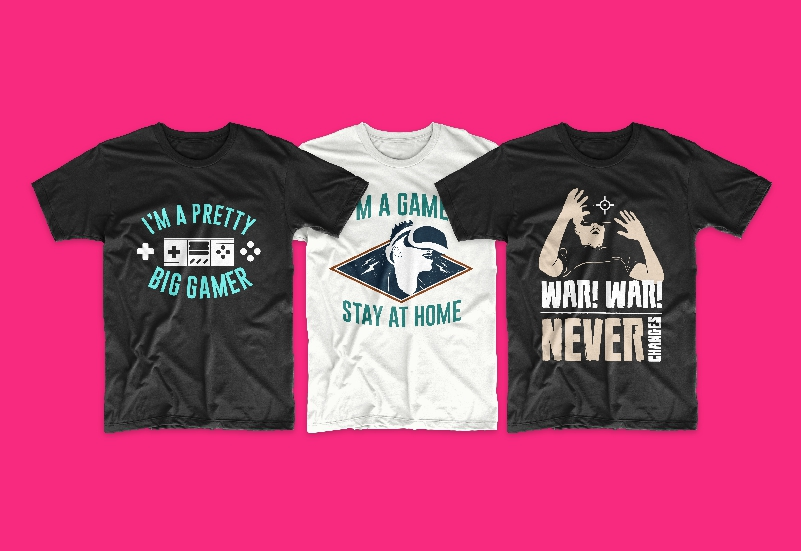 50 Gamer T-shirt Design Bundle - g 8