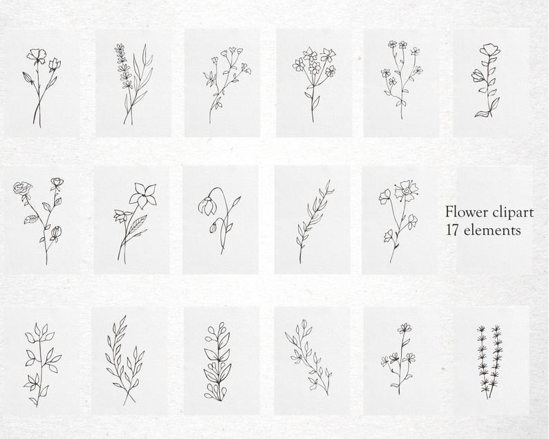 17 Plant Clipart Elements PNG, EPS, AI, SVG - il 794xN.2680624516 1l6d