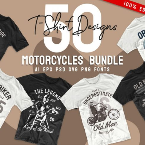 T-Shirt Design Mega Collection - moto 490x490