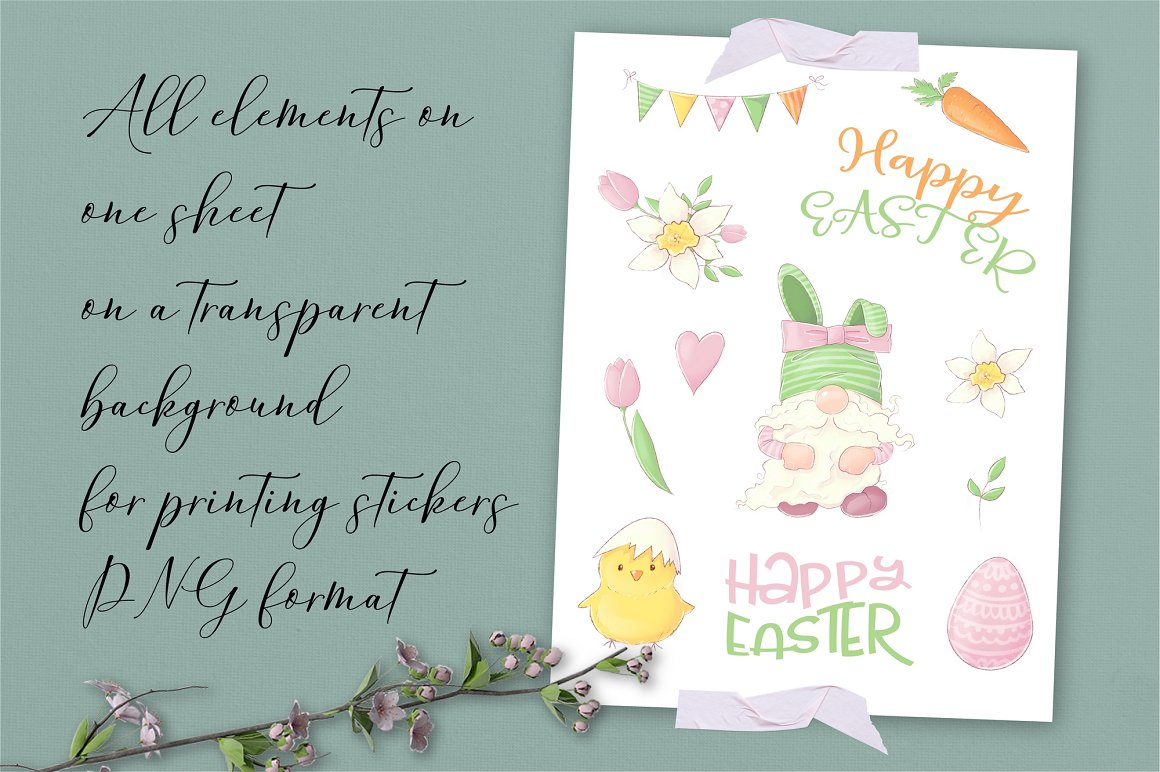 Easter Clipart: Easter Gnome Clipart - prw gnome stikers 1 1