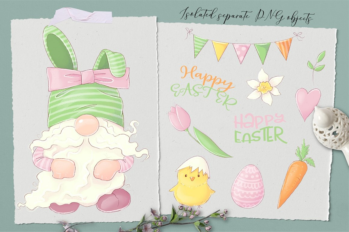 Easter Clipart: Easter Gnome Clipart - prw gnome stikers 1 2