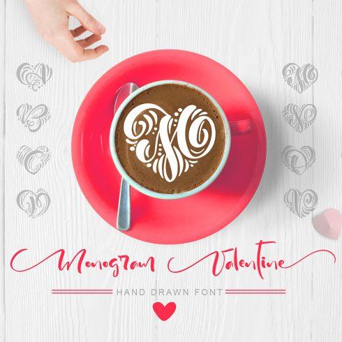 Monogram Valentine Font - title01 1 490x490
