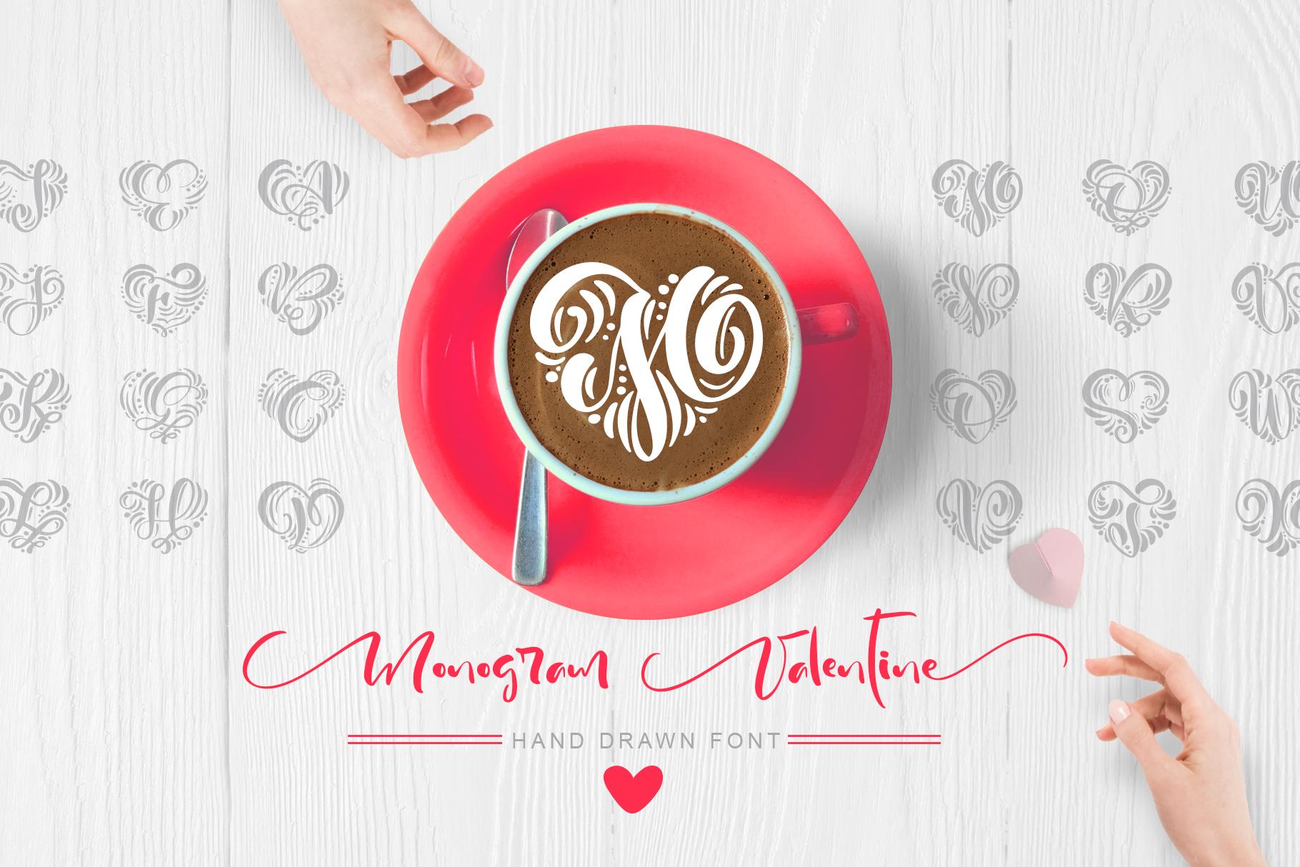 Monogram Valentine Font - title01