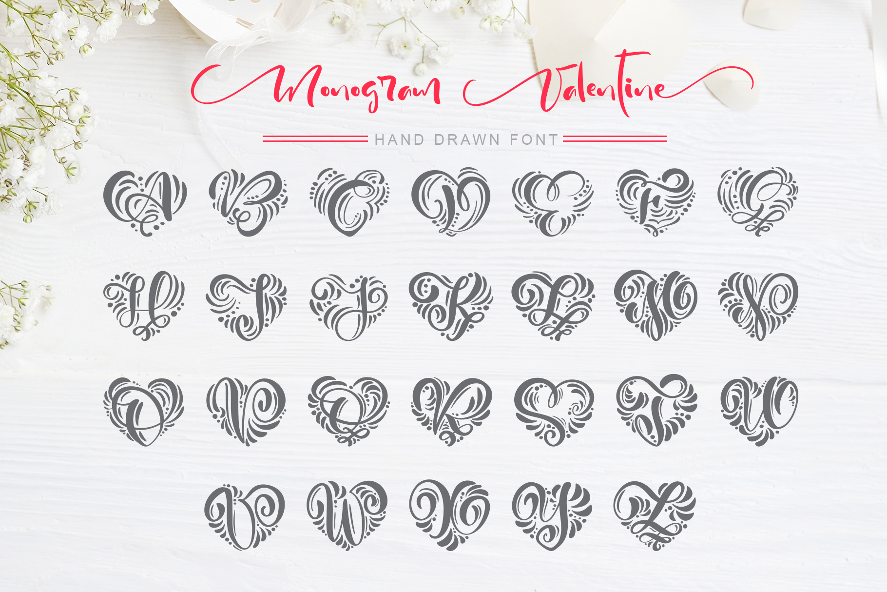 Monogram Valentine Font - title04
