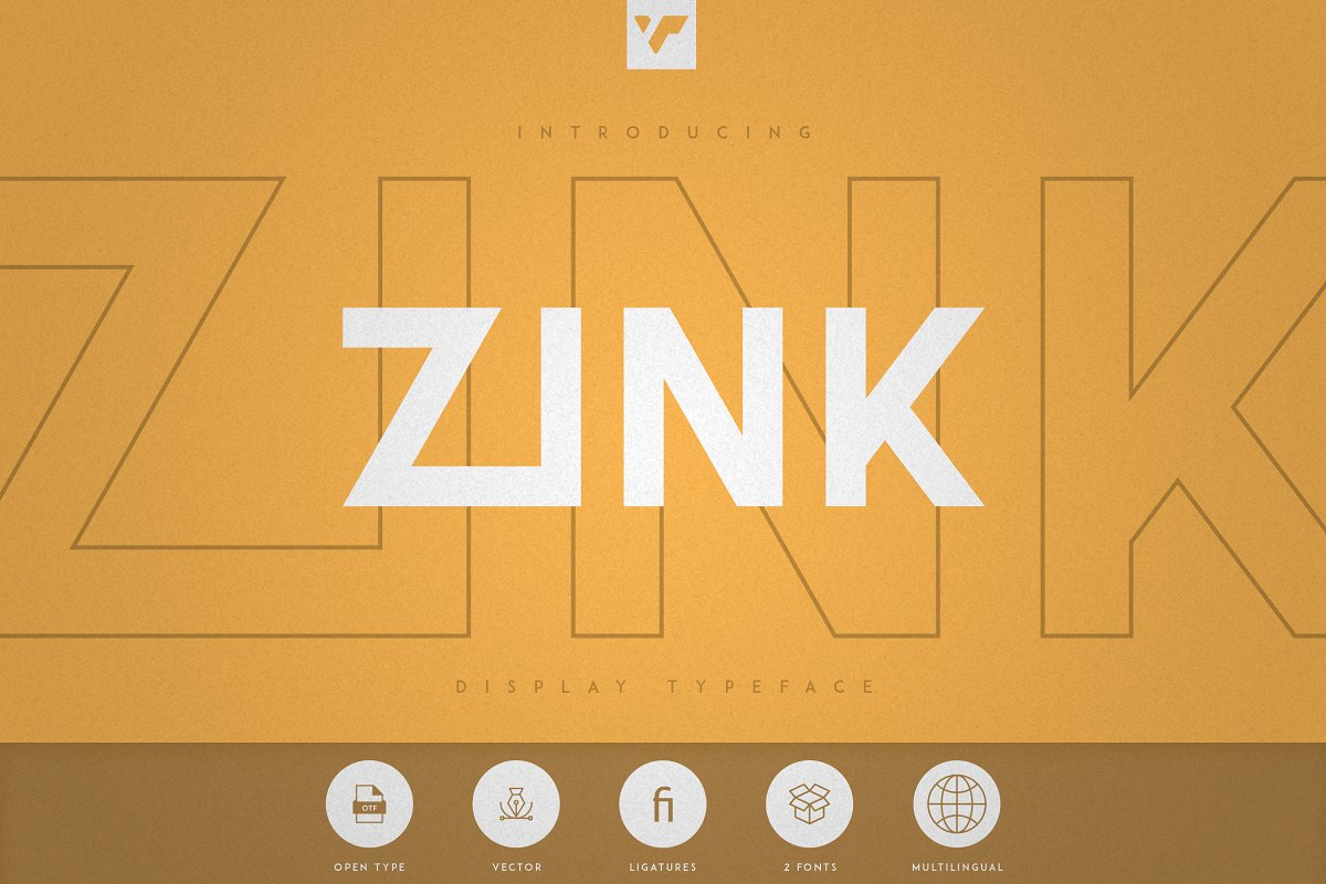 Zink - Bold Display Fonts - 1 1 2