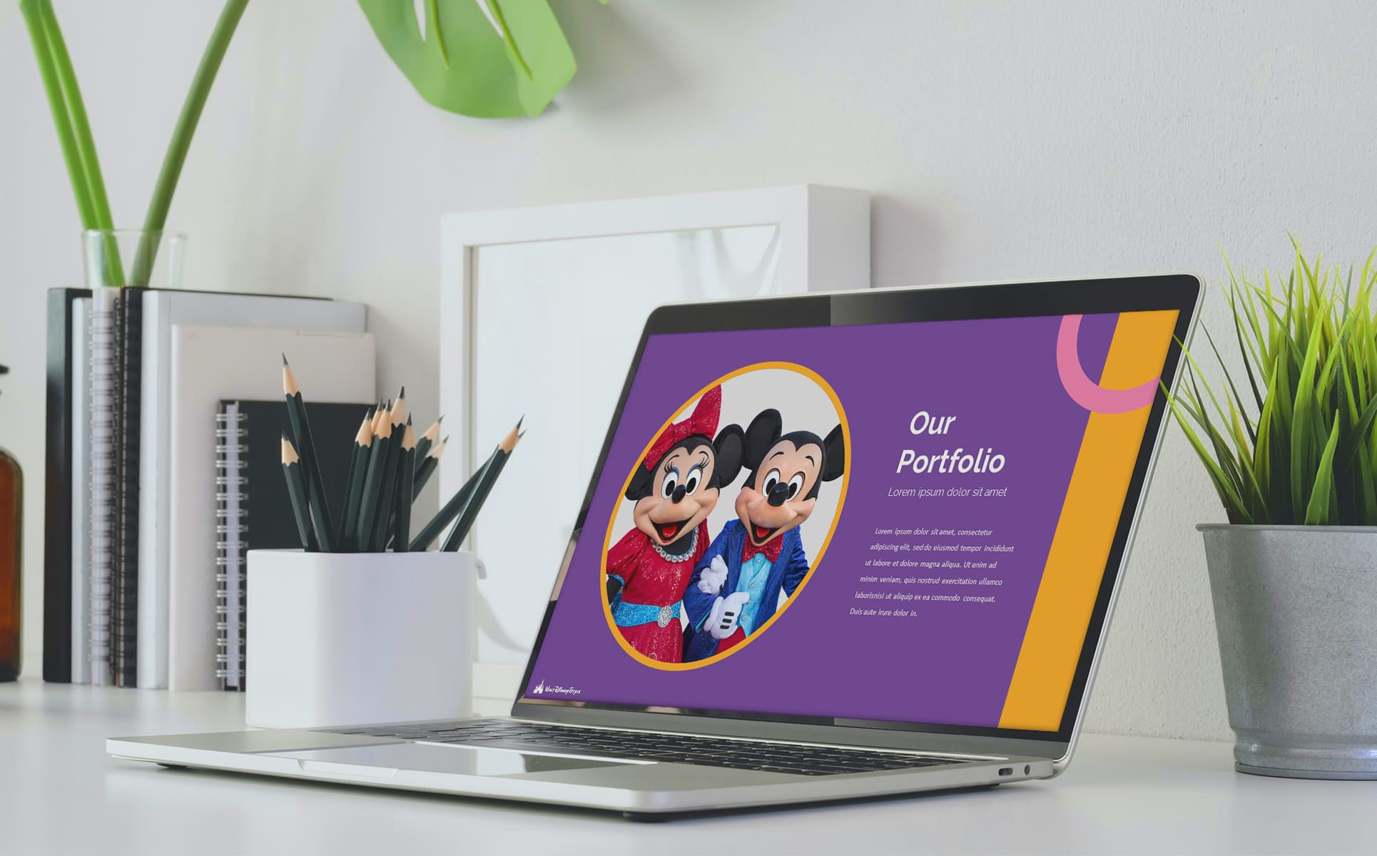 Disney Powerpoint Template. Desktop option.