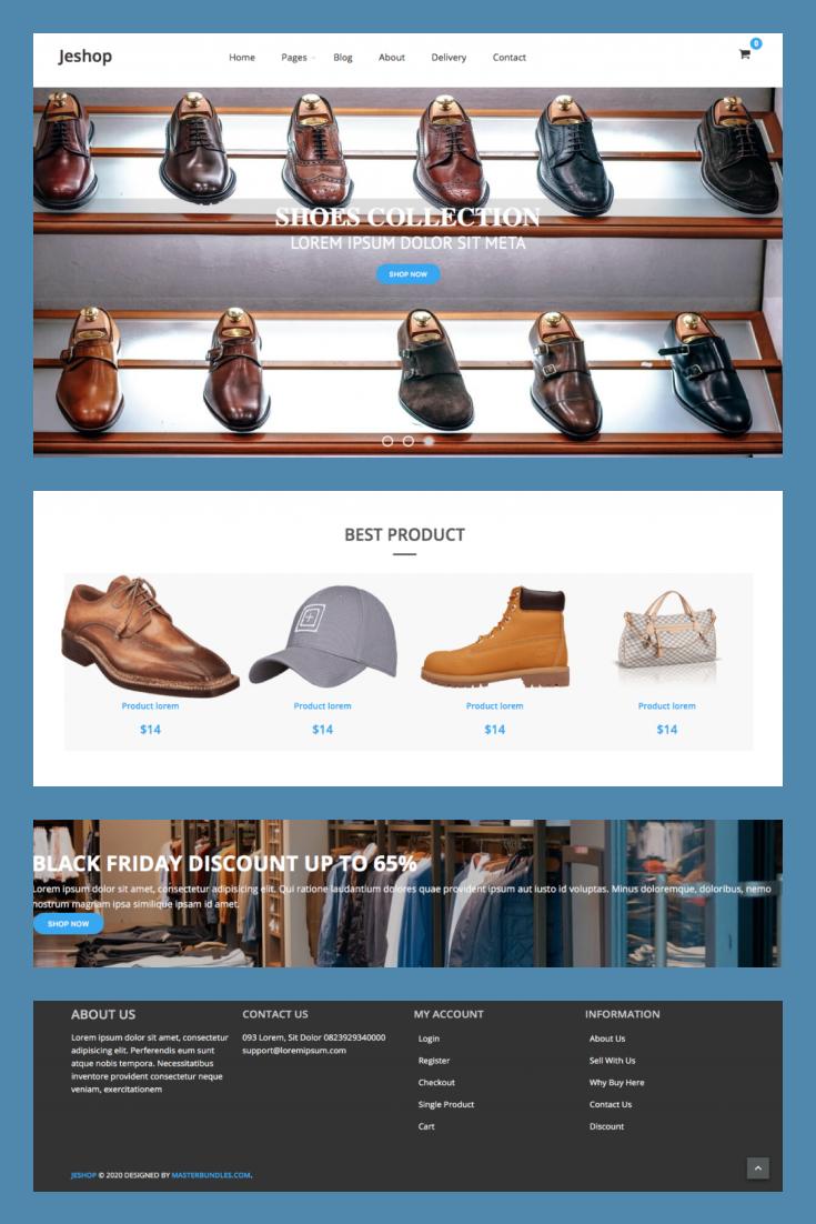 Pinterest Image: Free Template Blogger Online Shop Responsive