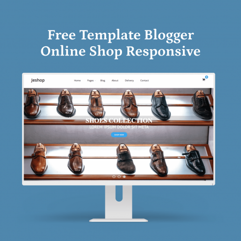 Free Template Blogger Online Shop Responsive main preview