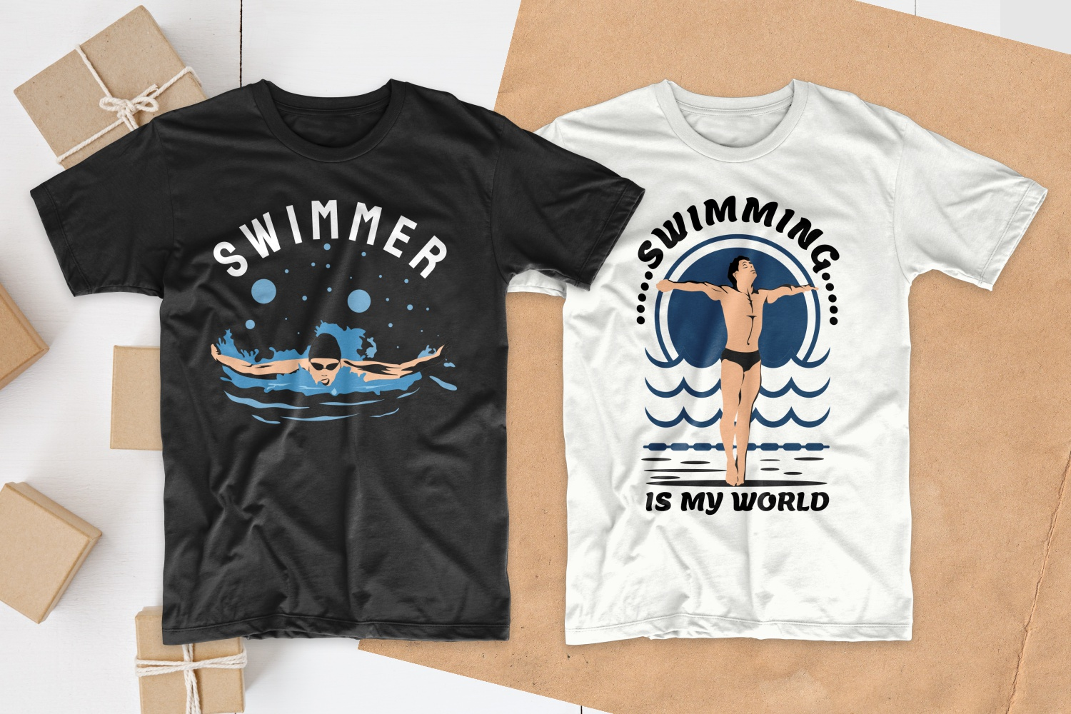 50 Swimming T-shirt Designs Bundle - 1