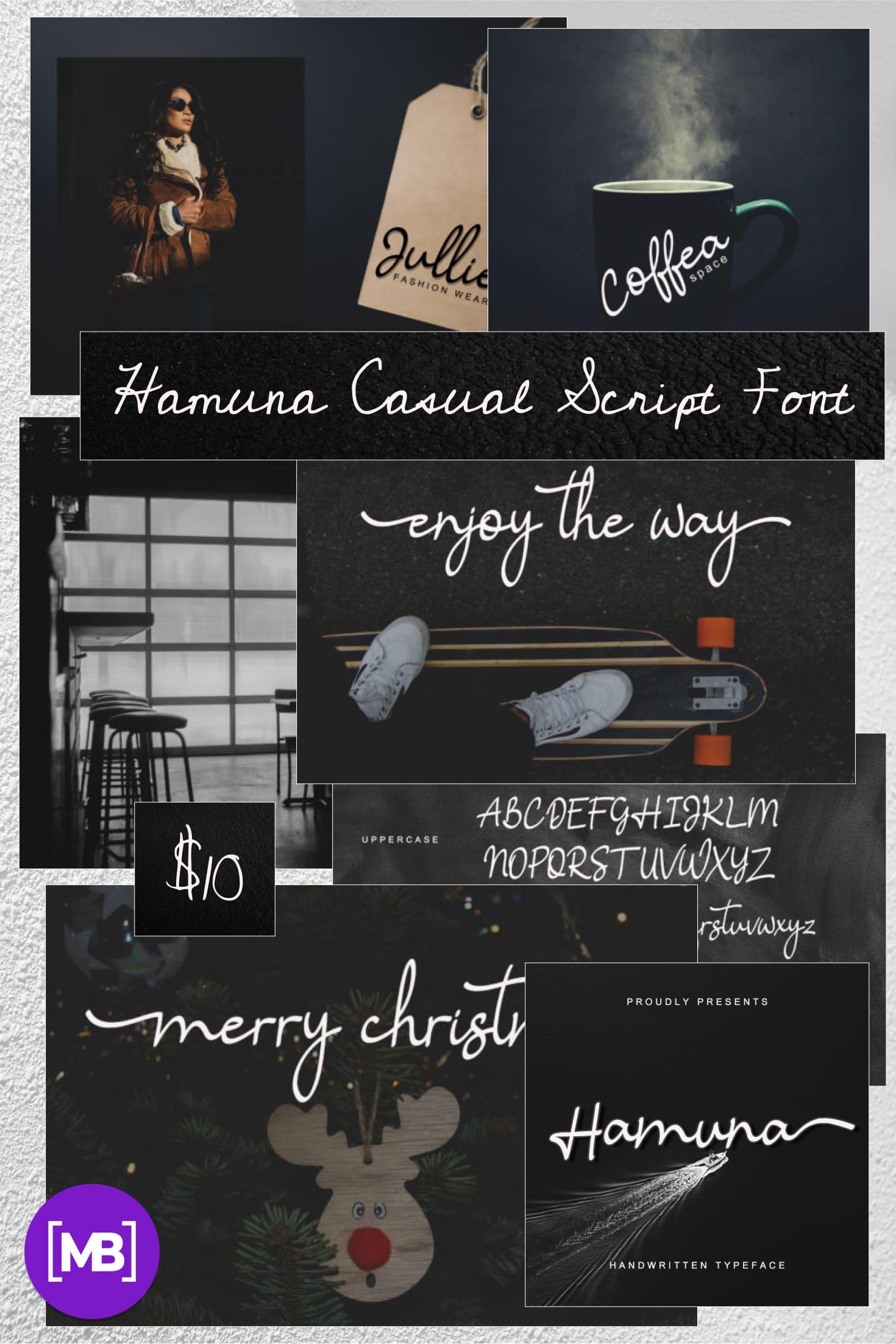 Pinterest Image: Hamuna Casual Script Font.