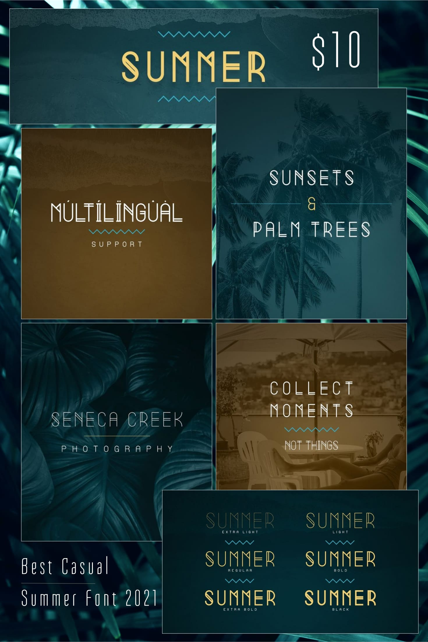 Pinterest Image: Casual Summer Font: Display Font family -70%