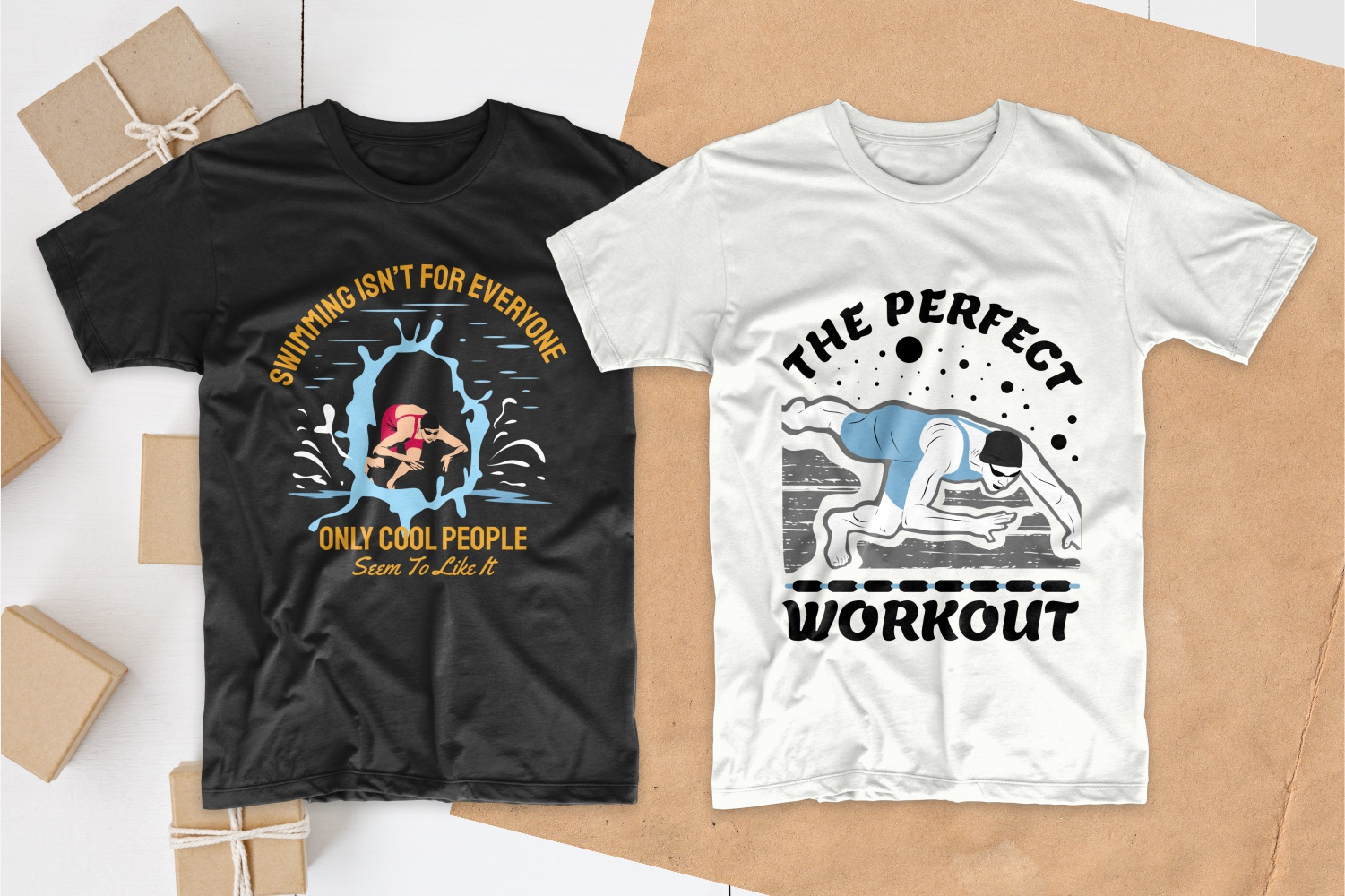 50 Swimming T-shirt Designs Bundle - 11