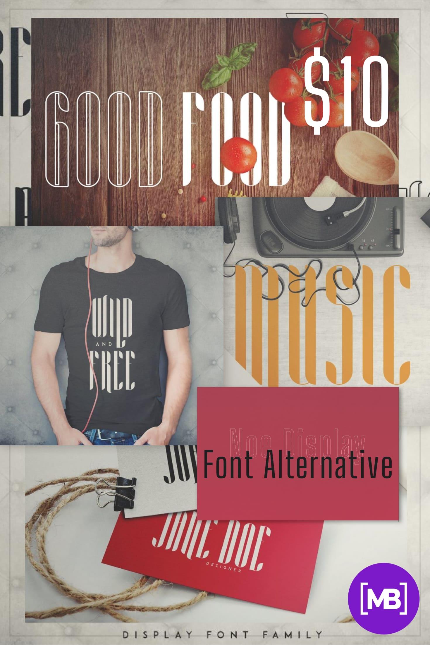 Pinterest Image: Noe Display Font Alternative - Aria Font Family -70%.