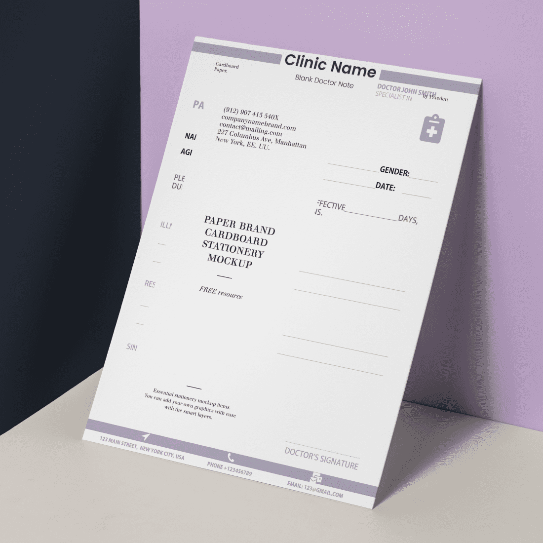 Download Free Doctor Note Template