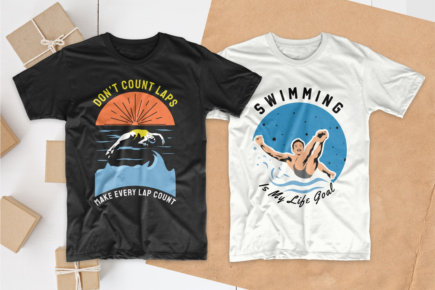 50 Swimming T-shirt Designs Bundle - 12