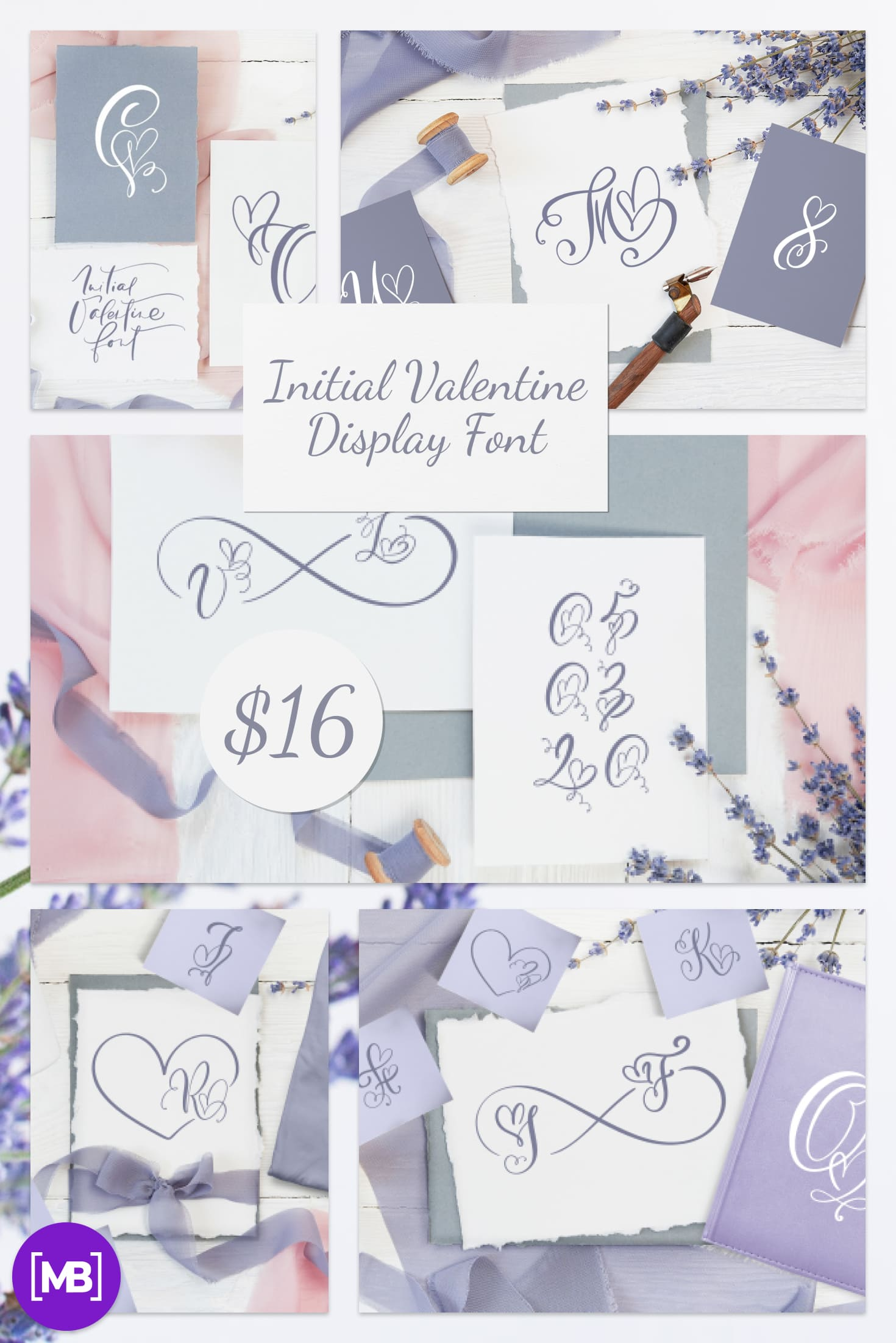 Pinterest Image: Best Valentines Day Font in 2021. Initial Valentine Display Font!