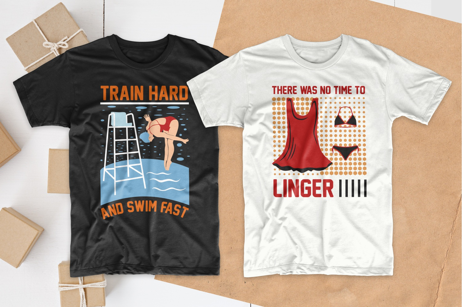 50 Swimming T-shirt Designs Bundle - 13