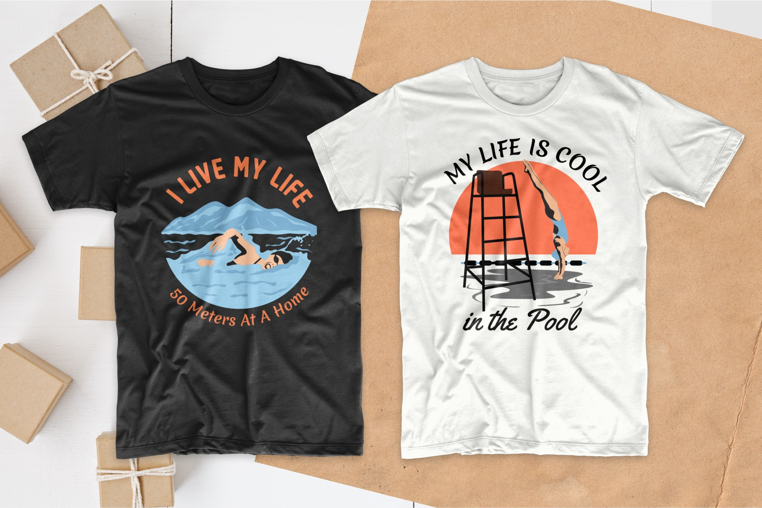 50 Swimming T-shirt Designs Bundle - 14