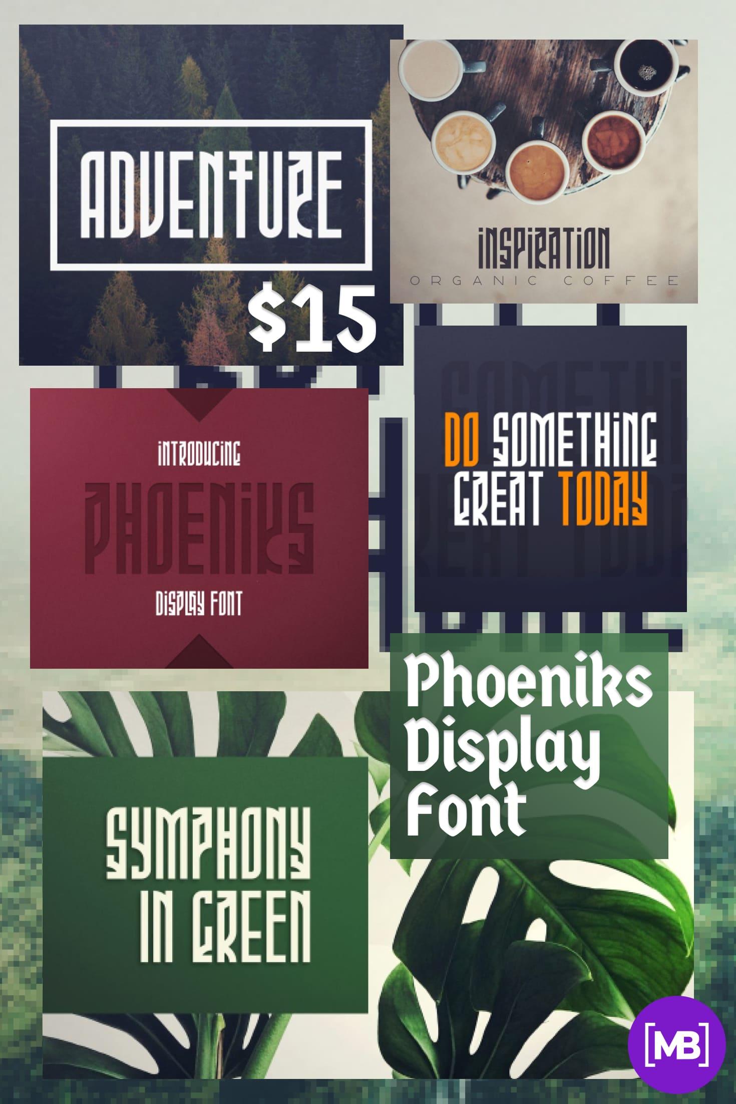 Pinterest Image: Phoeniks Display Font - $15.