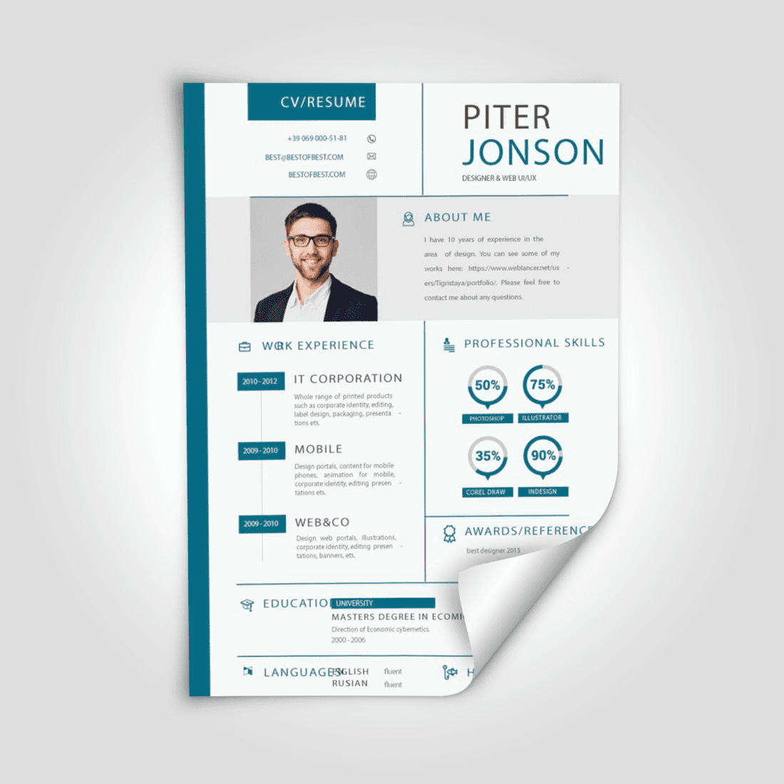 Best Grad Student Resume Templates. Second cover image.