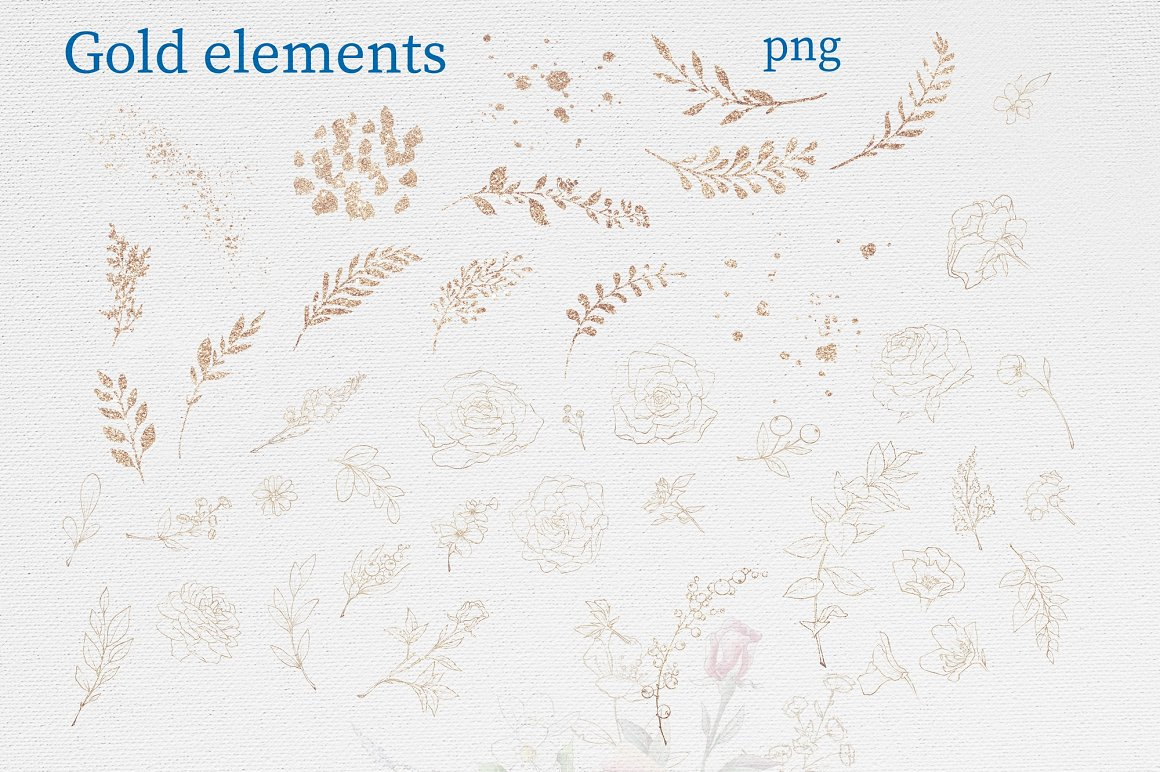 Pink Roses Clipart: Watercolor flowers PNG - 16