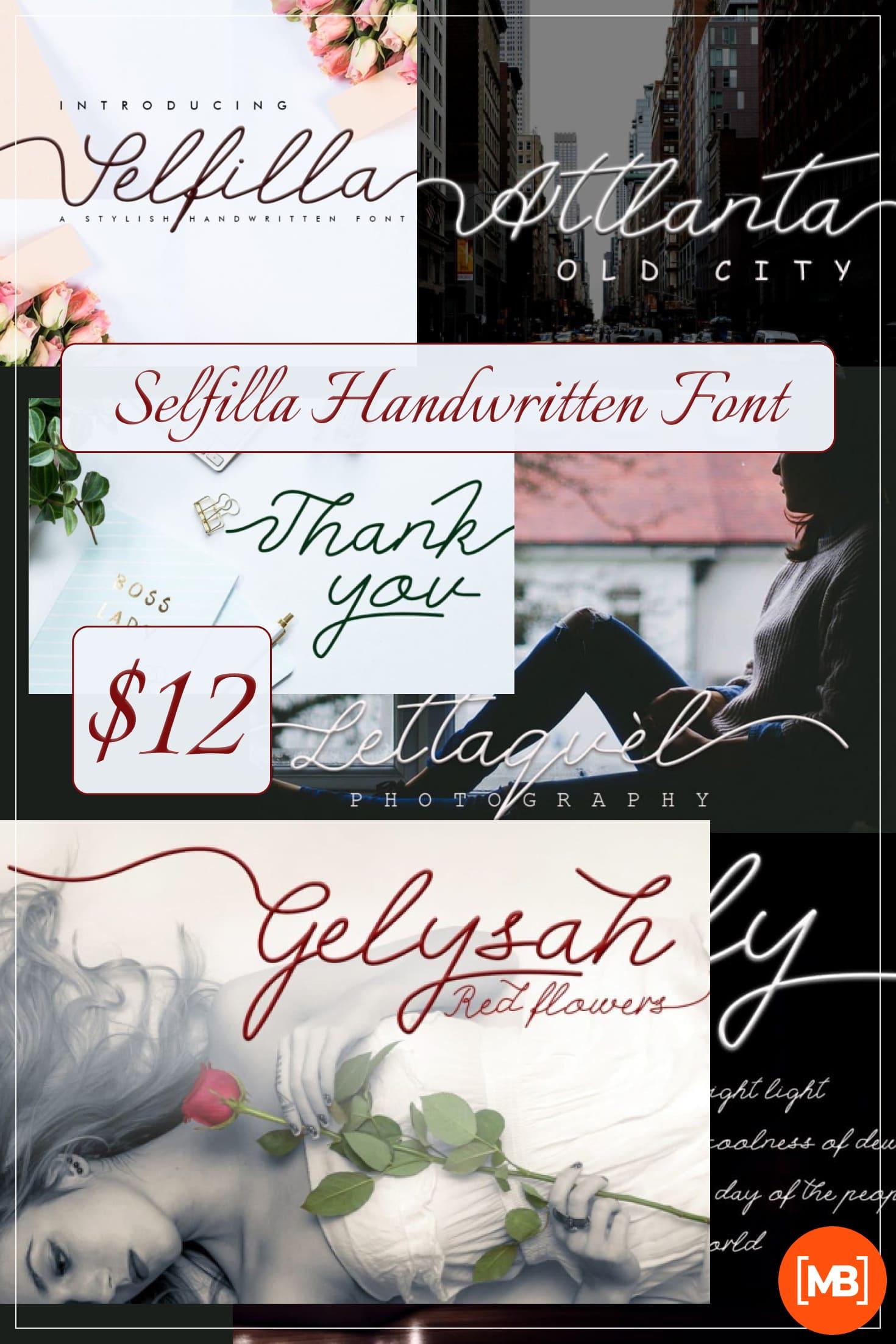 Pinterest Image: Selfilla Handwritten Font - $12.