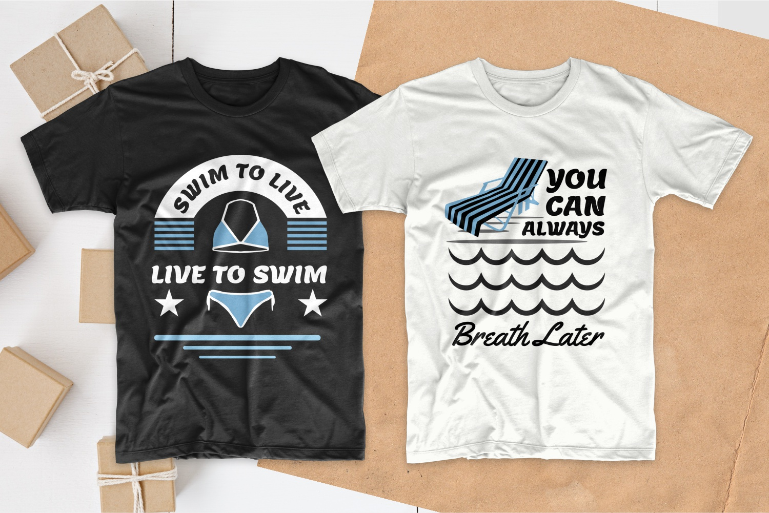 50 Swimming T-shirt Designs Bundle - 18