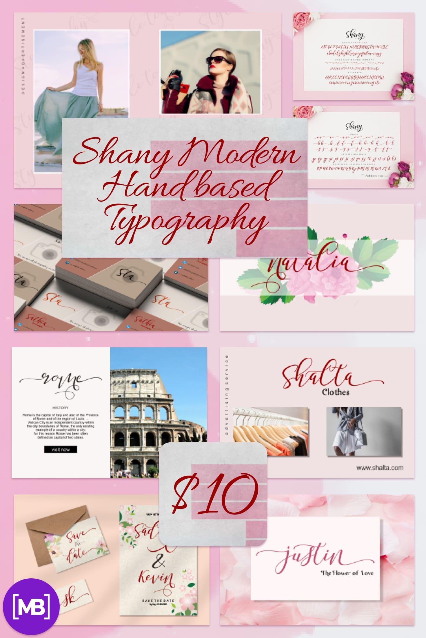 Pinterest Image: Shany Modern Hand based Typography.