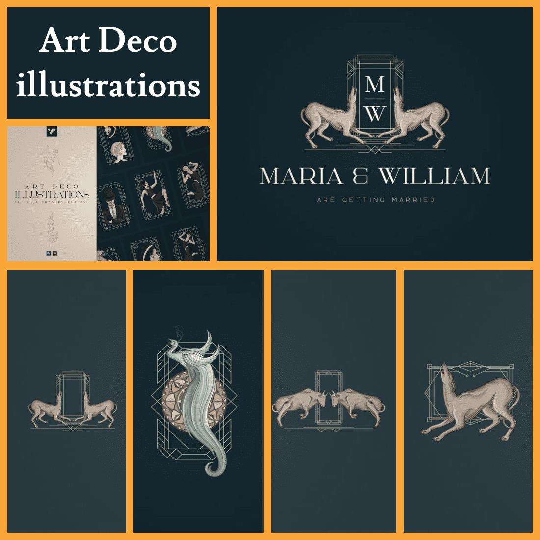 12 Art Deco illustrations