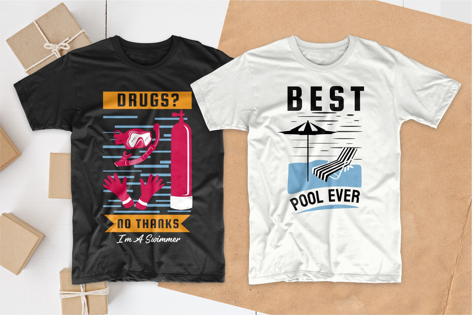 50 Swimming T-shirt Designs Bundle - 19