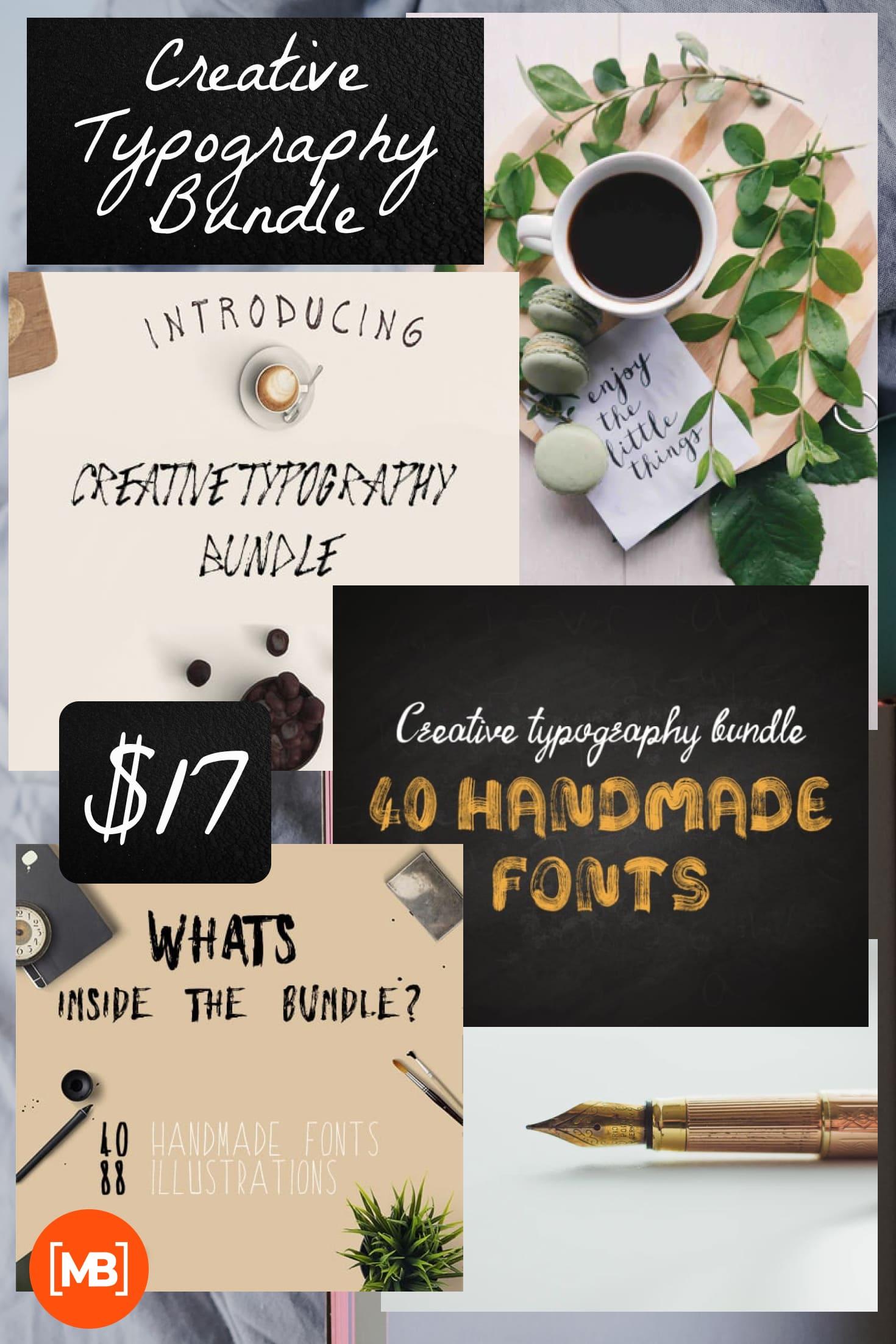 Pinterest Image: Creative Typography Bundle - $17.