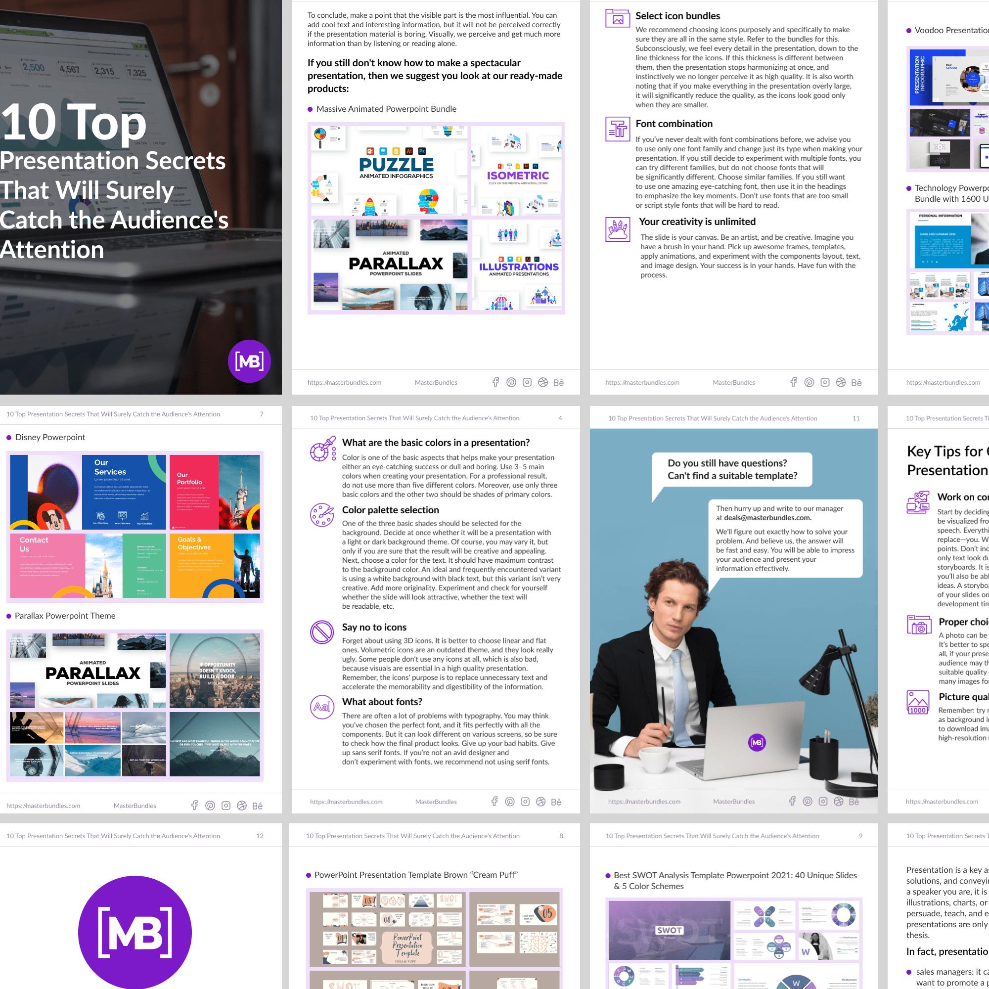 Free White Paper: 10 Top Presentation Secrets. Second cover image.