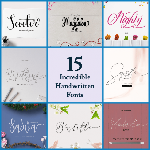 15 Incredible Handwritten Fonts
