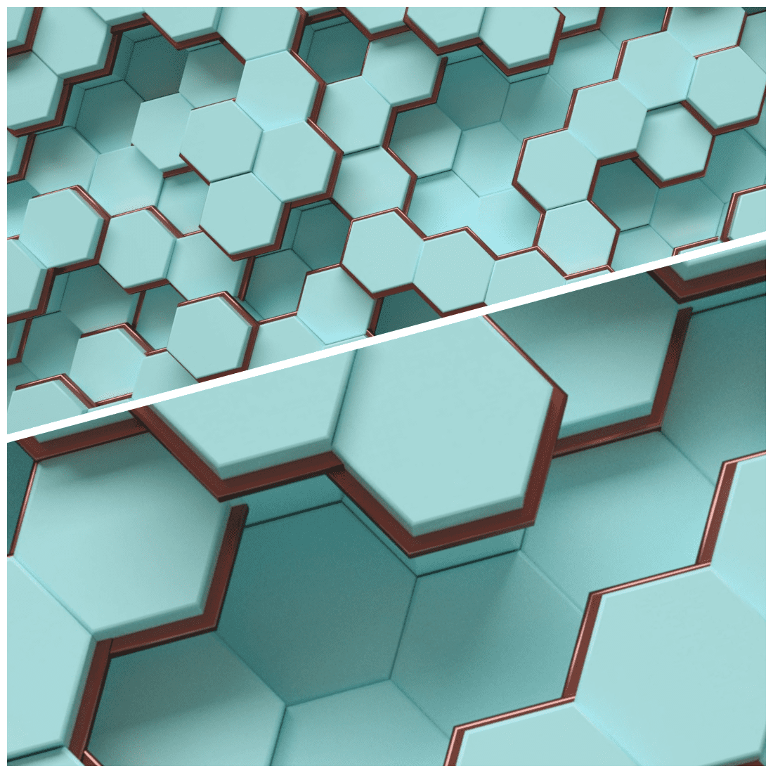 Tiffany _ Rose Gold Hexagon Backgrounds