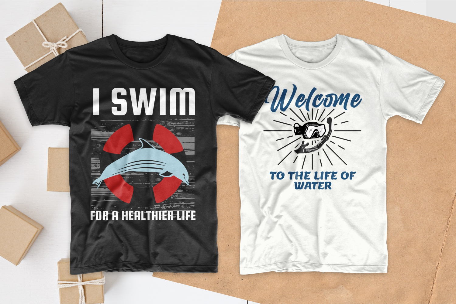 50 Swimming T-shirt Designs Bundle - 22