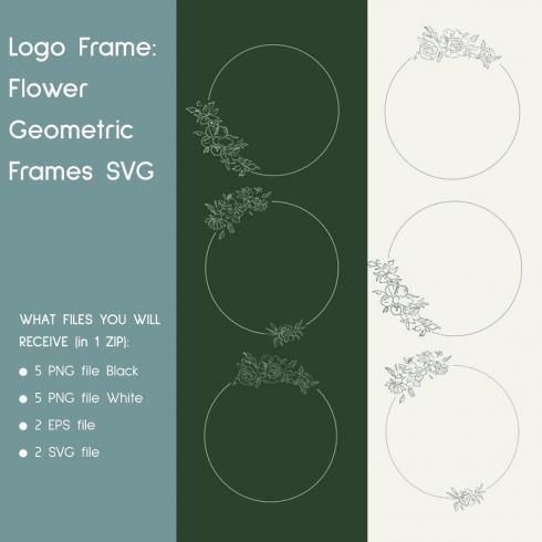 Logo Frame_ Flower Geometric Frames SVG
